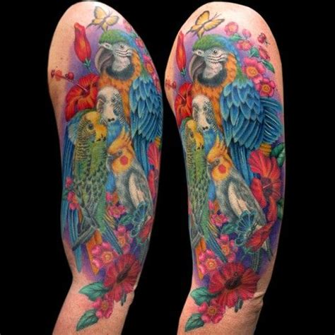 looking for unique flower tattoos tattoos exotic birds