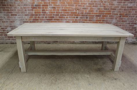 custom farm tables white washed farm table with custom trestle ecustomfinishes