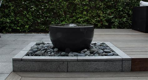 modern water feature contemporary courtyard rosemary coldstream
