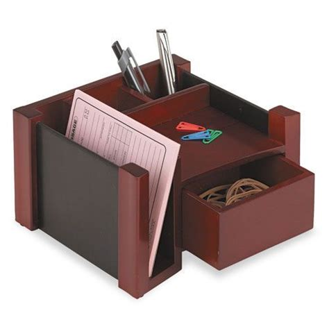 Rolodex Desk Organizer Rolodex Desk Director Wood Black Mahogany Office Supplies Desk Accessories Organizers