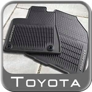 All Weather Floor Mats Toyota 2014 2015 Toyota Highlander Floor Mats Rubber All Weather