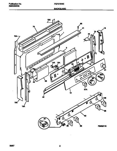 frigidaire gallery dishwasher parts diagram frigidaire fgf379wecf gas range timer stove clocks and