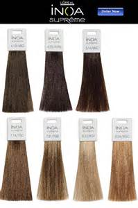 loreal hair color chart l oreal inoa supreme hair color chart