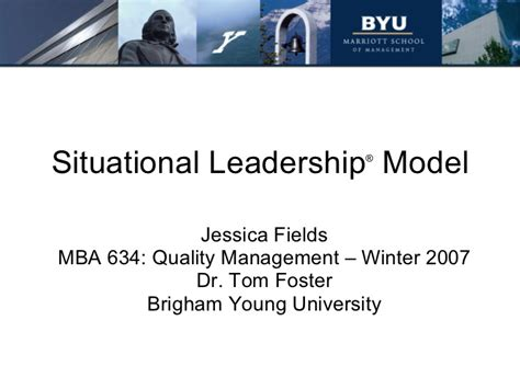 Foster Mba Leadership by Situational Leadership
