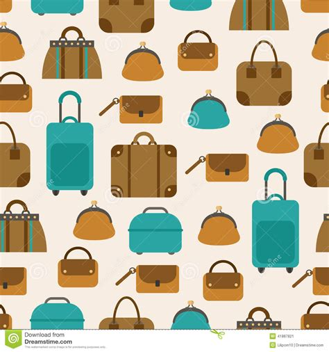 bags and suitcase pattern design software seamless pattern of bags luggage baggage stock vector