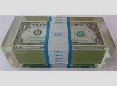 Fantastic Allusion $100.00 Dollar Bill Lucite Pop Art ... $100 Bill Stack
