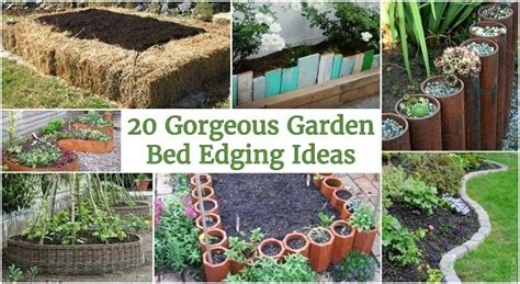 Garden Bed Edging Ideas 20 Gorgeous Garden Bed Edging Ideas That Anyone Can Do