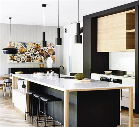 ideas  combinar tus muebles de cocina en dos colores
