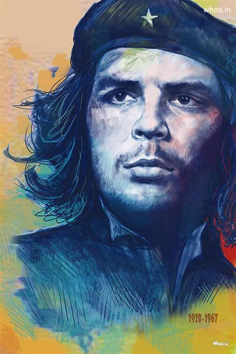 Valentine Day Quote by Che Guevara Bule Face Art Hd Wallpaper