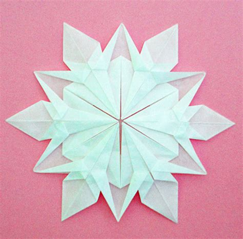 Folded Paper Snowflake - liveinternet