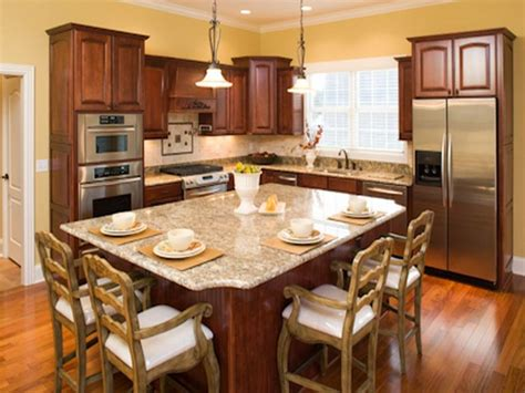 Eating Kitchen Island by Eat In Kitchen Design With Dining Island Those Chairs But Like The Overall Setup Home
