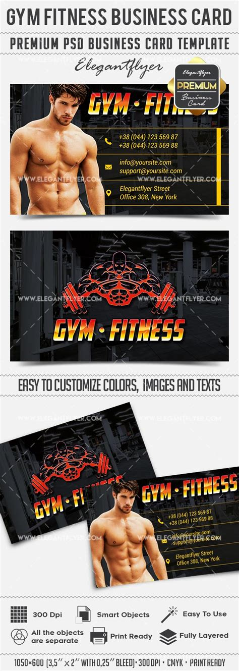 fitness business card template psd fitness business card templates psd by elegantflyer