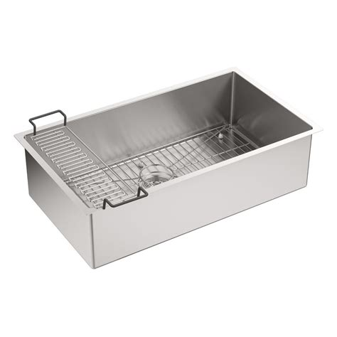 Kohler Kitchen Sink Racks Kohler K 5285 Na Strive 32 Undermount Single Bowl Kitchen Sink With Basin Rack