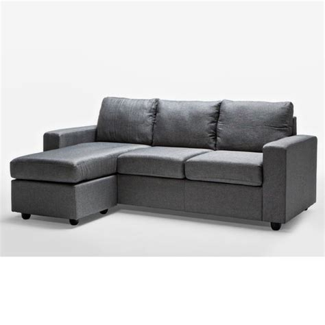 Grey Sofa With Chaise Lounge by Ella 3 Seater Sofa With Chaise Lounge In Grey Buy
