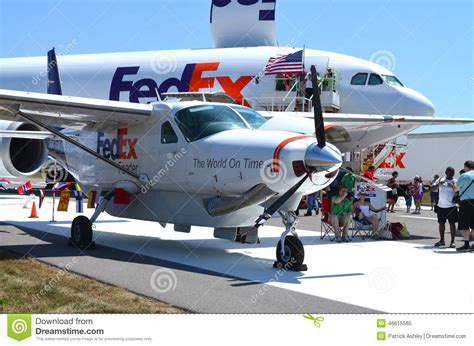 fedex airplanes at airshow editorial image image of prop 46615565