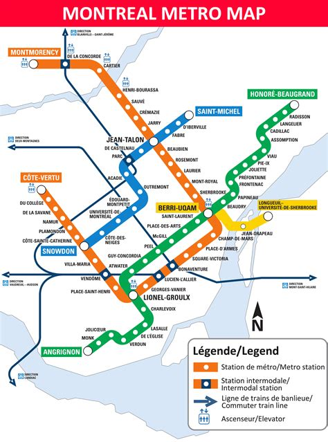 the metro map montreal metro map lines stations and interchanges