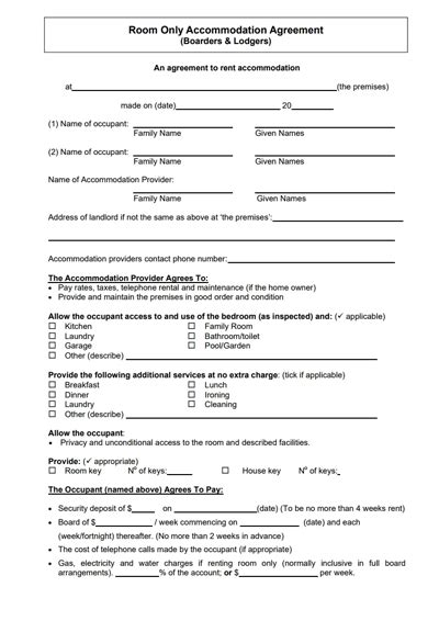 rent room contract template rent house agreement madrat co