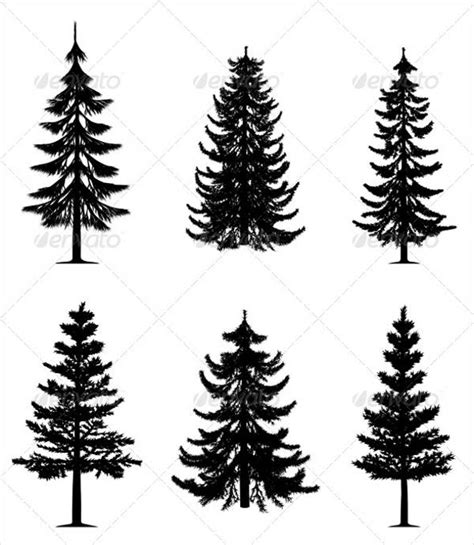 Pine Tree Outline by 9 Pine Tree Silhouettes Free Premium Templates
