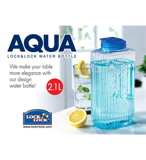 Lock Lock Water Bottle 2 1l Biru buy lock n lock transparent plastic 2 1 l bottle set of