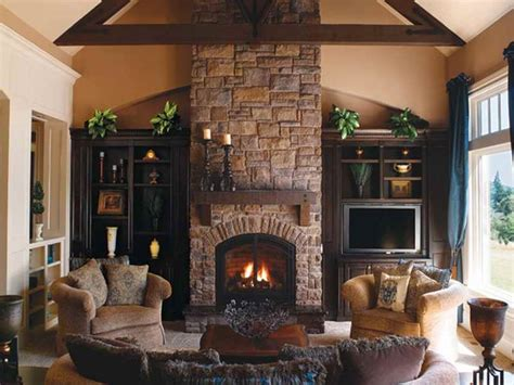 indoor classic design of indoor fireplace