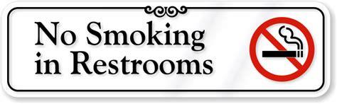 how to smoke in your bathroom no smoking in bathroom signs custom no smoking labels