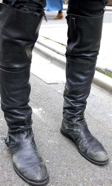 mens high boots leather knee high boots for uk