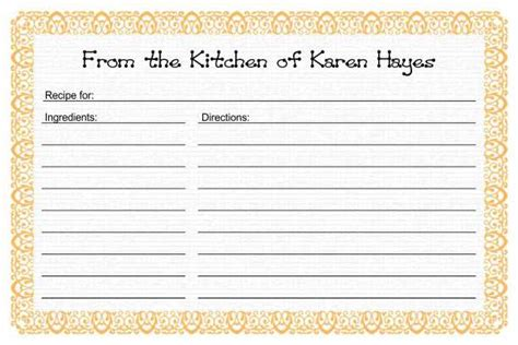 Preschool Recipe Card Template by Miscellaneous More Templates And Printables