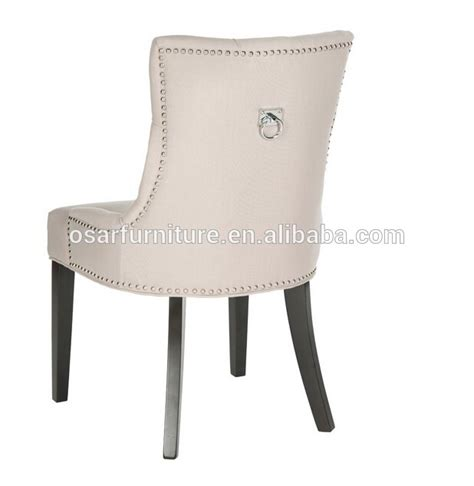Ring Pull Dining Chair Style Tufted Linen Fabric Upholstered Dining Chair With Pull Ring Buy Dining Chair