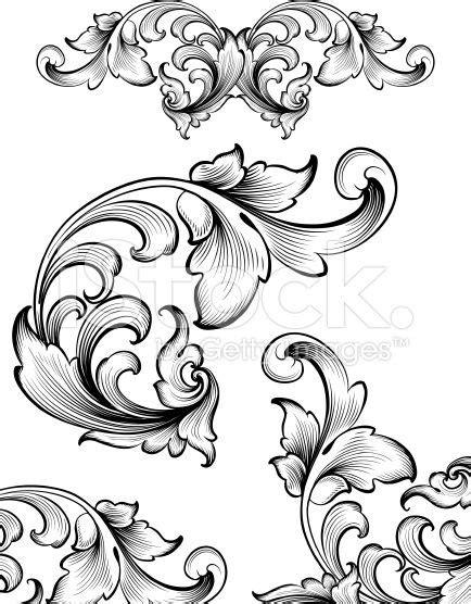 flourish tattoo designs intricate flourish set royalty free stock vector