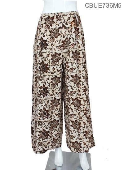 Celana Kulot Batik Sogan Sinaran celana kulot colet motif sogan klasik bawahan rok