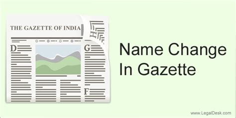 Find In India By Name Is Gazette Publication Required For Changing Your Name In India
