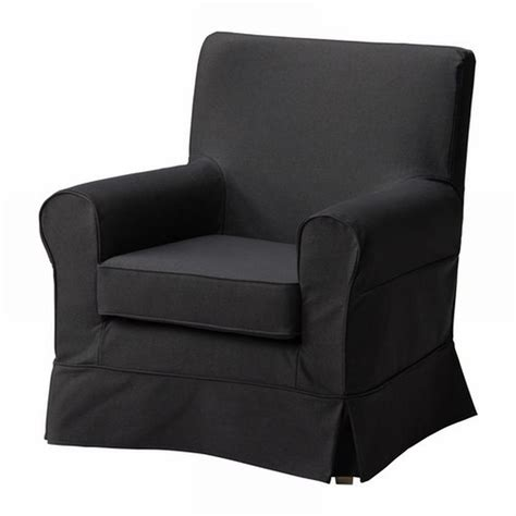black chair slipcover ikea ektorp jennylund armchair slipcover idemo black chair