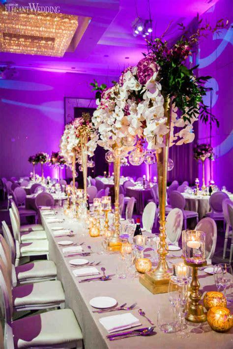 glamorous gold purple wedding theme elegantweddingca