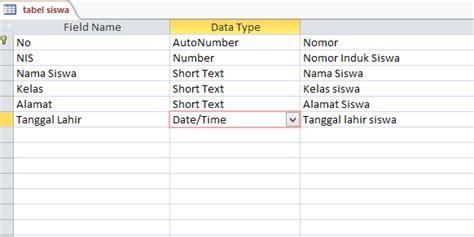 membuat database siswa dengan access cara membuat database dengan microsoft access 2007 2010