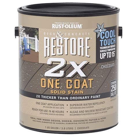 restore   coat solid stain  cool touch technology