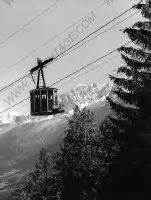 Ski au Col de Voza - Photo originale noir et blanc de Karl