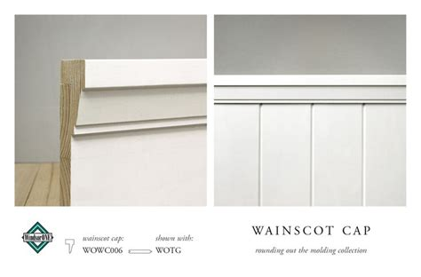 Wainscoting Top Cap Molding by Windsorone Wainscot Caps A Classical Craftsman Wainscot