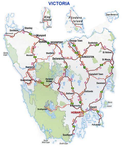 printable road map of tasmania map of tasmania tasmania maps mapsof net