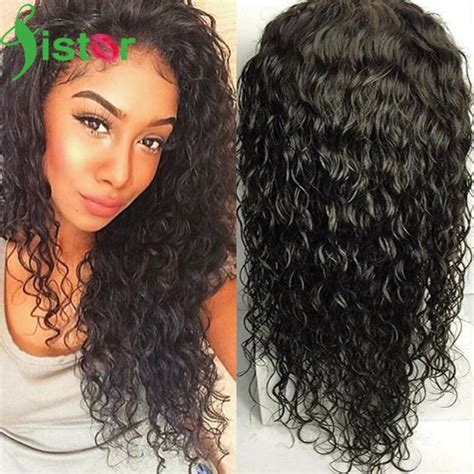 black hairstyles for wet and wavy hair brazilian lace front human hair wigs wet and wavy glueless