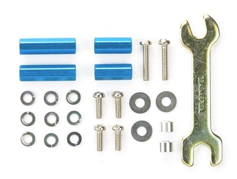 Tamiya Hex Mount Set 10mm15mm tamiya mini 4wd aluminum hex mount set blue 10mm 15mm 95322