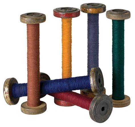 Amazon Home Decor wooden lace bobbins with thread