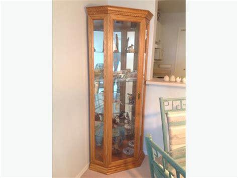 oak corner curio cabinet solid oak corner curio cabinet saanich sidney
