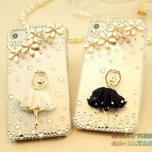Ballet Rhinestone Cover For Iphone 5c Handmade Import bling ballet for iphone 6 plus iphone 5 5s 5c 4s 4 samsung galaxy s3 s4
