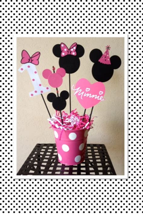 Minnie Mouse Birthday Decoration by Minnie Mouse Birthday Decoration Centerpieces Baby Shower
