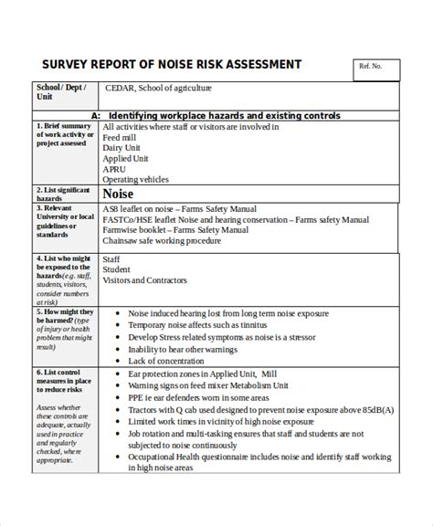 site survey report template 32 survey template free sle exle format free