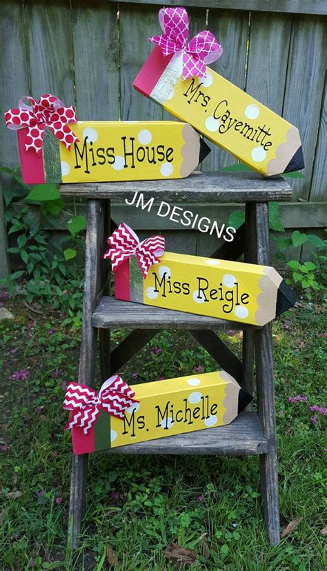 desk name plates for teachers personalized pencil desk name plate by