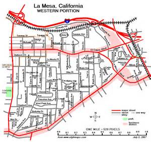 la mesa map maps of the san diego area