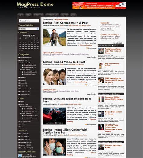 free wordpress themes user friendly content friendly wordpress theme futuvibe magpress com
