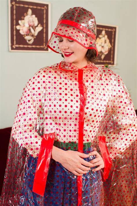 vinyl raincoat pattern 389 bedste billeder om polka dots patterns p 229 pinterest