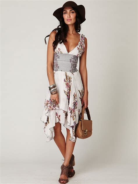 Dress Of The Day Tufi Duek Lattice Chest Swing Dress by Lyst Free Fp One Wisteria And Lattice Dress In White